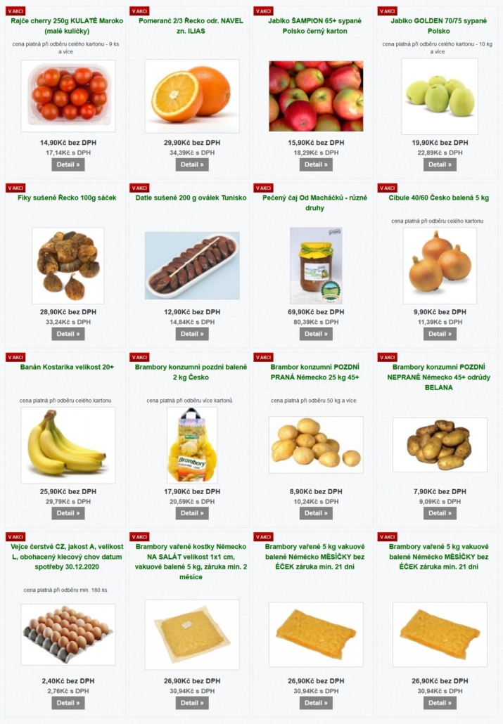 Eshop ovoce a zelenina Plzeň